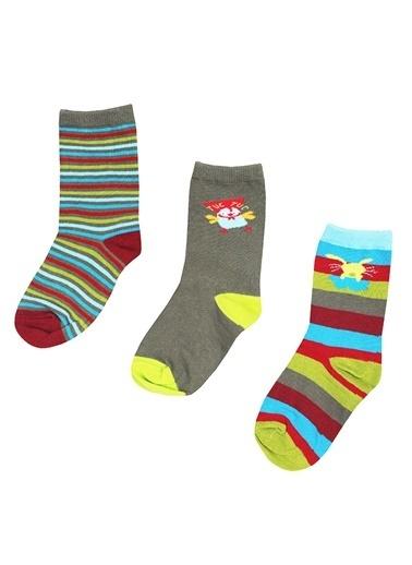 Tuc Tuc 3'lü Çorap Haki